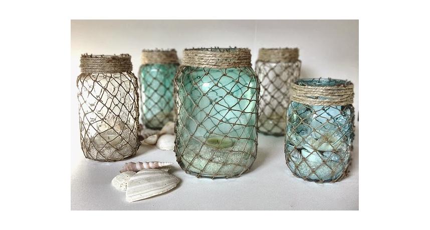 reciclar los tarros de vidrio con estilo marinero - Tarros De Vidrio